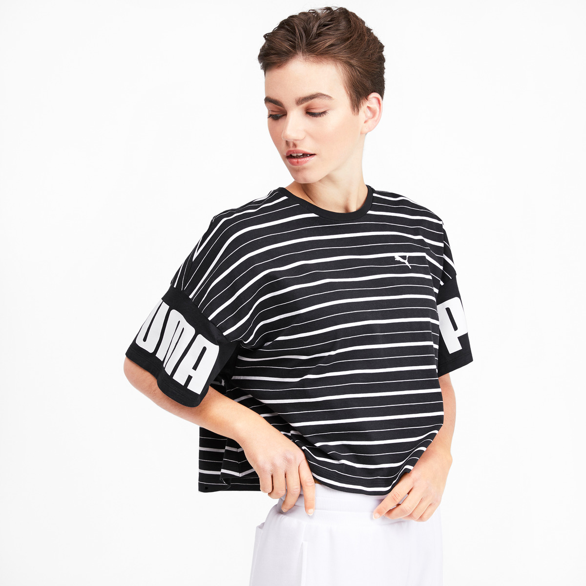 Camiseta de mujer Rebel Striped Puma
