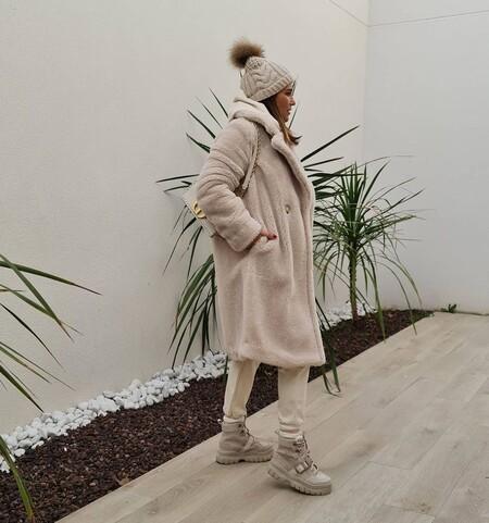 paula echevarria abrigo de borreguito de primark