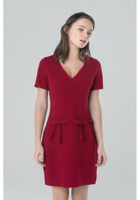 Vestido Lazos Rojos Cp