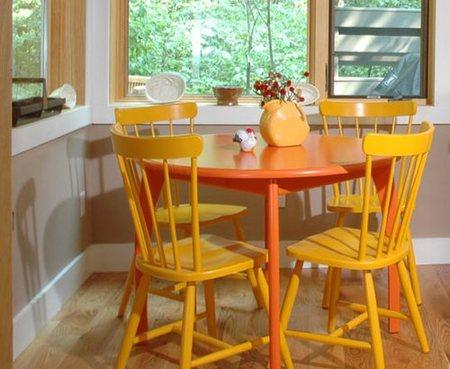 Una buena idea: colores cálidos en la cocina