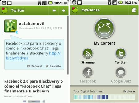 My6sense en Android