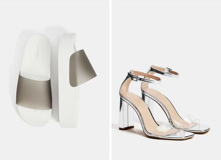 sandalias transparentes pvc zapatos