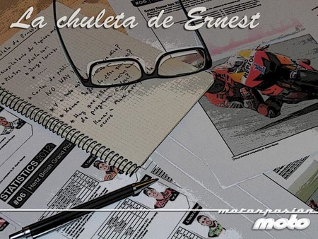 MotoGP Italia 2012: la chuleta de Ernest