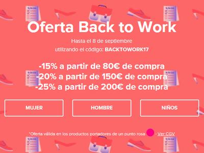 Sarenza nos ofrece hasta un 25% de descuento en más de 27.000 artículos: Back to work ahorrando