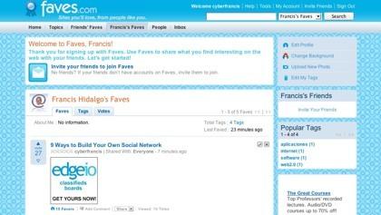 Faves, completo marcador social online a tener en cuenta