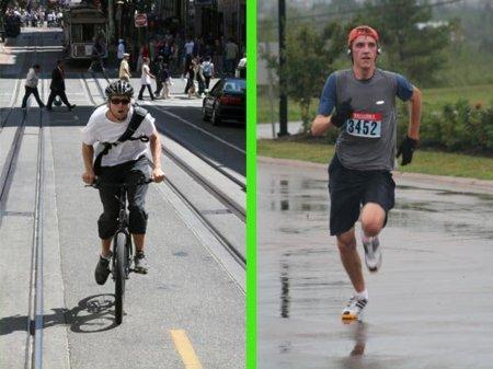 Bicicleta o carrera. Pros y contras de dos actividades aeróbicas