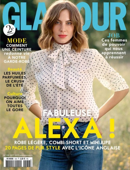 Alexa Chung In Glamour Magazine September 2015 Issue 1