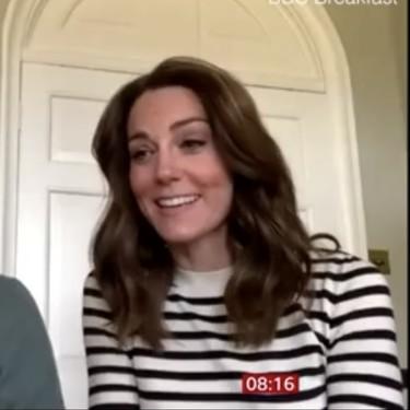 Copiamos el jersey de rayas que ha lucido Kate Middleton en la última videollamada desde su casa con estos cinco modelos