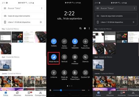 Google Fotos Modo Oscuro Android 10