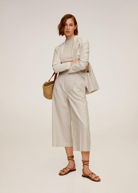 Pantalón culotte lino
