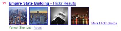Yahoo toma fotos de flickr para sus búsquedas
