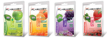 Discos flash USB con distintos olores