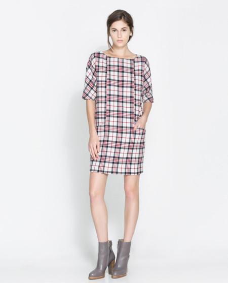 Zara vestido cuadros clon