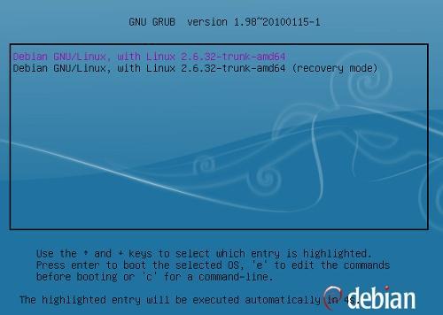 Debian inicio