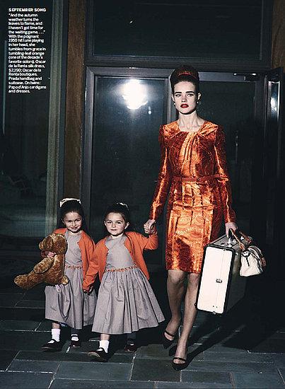 Foto de Natalia Vodianova en Vogue Estados Unidos estilo años 60 (7/10)
