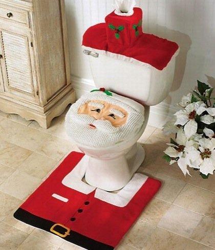 Da los buenos días a Papa Noel en el inodoro