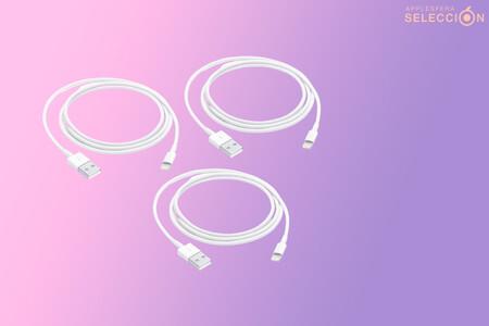 3x1 en cables Lightning a USB de un metro originales de Apple para recargar tu iPhone: 24,99 euros en Macnificos