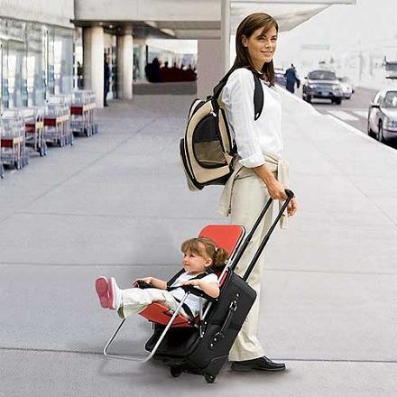 Maleta para llevar a los niños