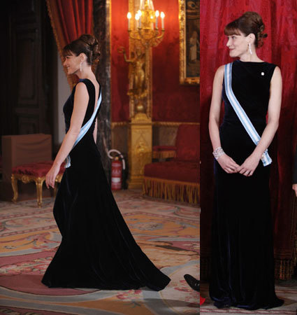 El look de Carla Bruni y la Princesa Letizia en la cena de recepción