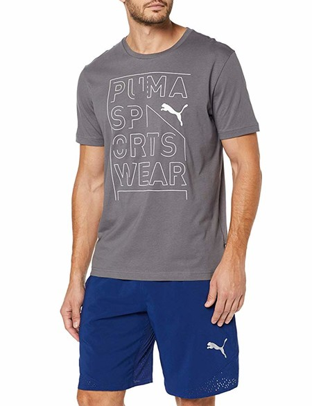 PUMA Repeat Brand Graphic Camiseta, Hombre