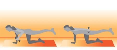 Tonificar glúteos y triceps al mismo tiempo