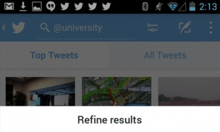 Twitter actualiza sus aplicaciones móviles con filtros de búsqueda