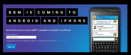 BlackBerry inicia la promoción de BBM para iOS y Android