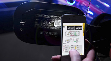 Mercedes y su código QR para accidentes