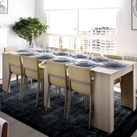 ¿Consola para el recibidor, mesa de trabajo, o mesa para 2, o hasta 10 invitados? Kiona es la mesa multifunción de Leroy Merlin que tu casa necesita