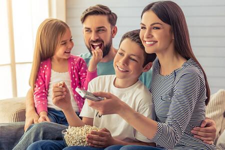 sesion de cine en casa