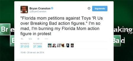 El tweet incendiario de Bryan Cranston, la imagen de la semana