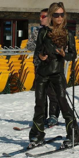 Victoria Beckham en Baqueira de Chanel