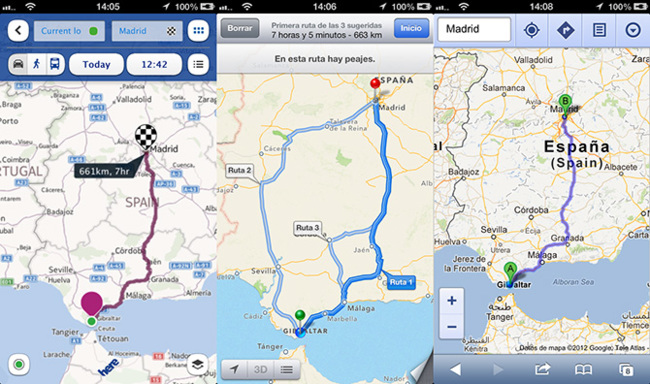 HERE Maps vs Apple Maps vs Google Maps