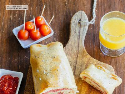 Stromboli de salami. Receta fácil