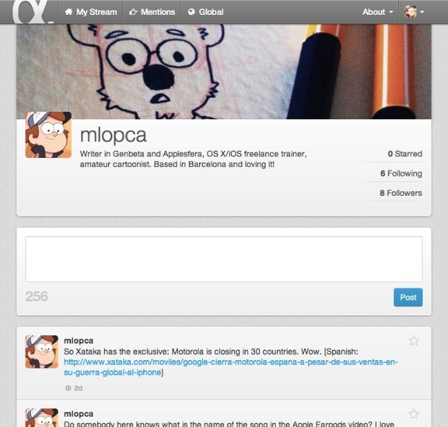 app.net perfil