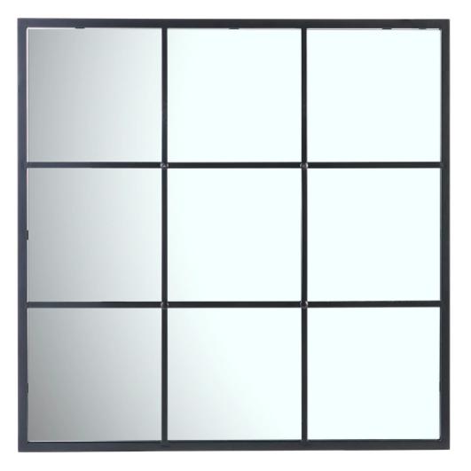 Espejo decorativo de pared cuadrado Window El Corte Inglés. Pertenece a Colección de comedor con mesa Mica y silla Brantford de El Corte Inglés
