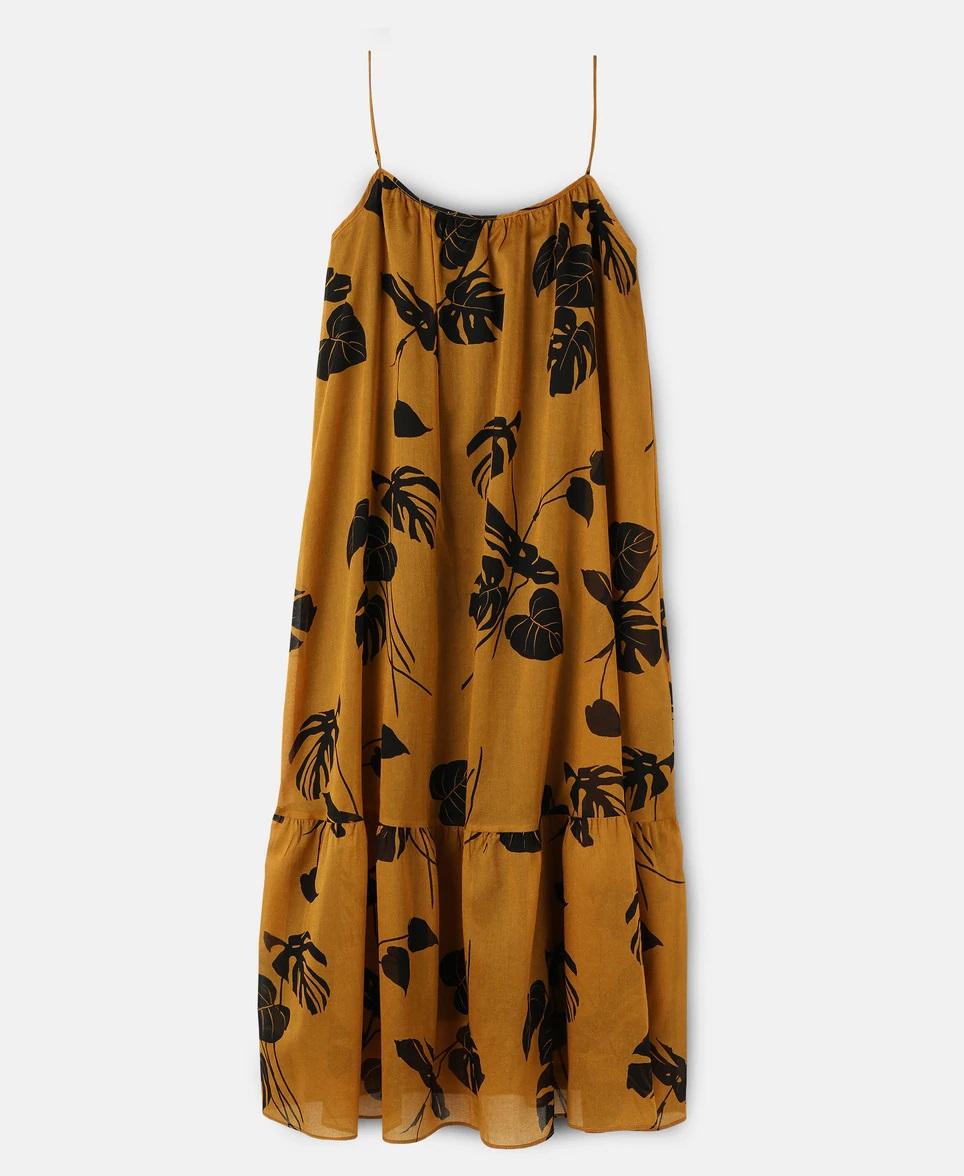 Vestido holgado con estampado tropical de Amitie