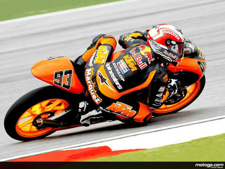 Marc Márquez partirá primero en el GP de Malasia de 125