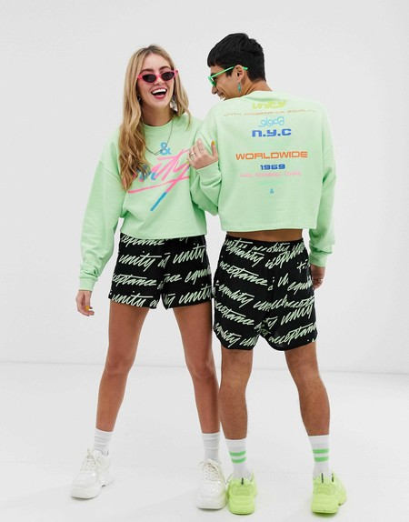 Asos Design X Glaad Unisex Cropped Sweatshirt With Tour Print 3