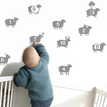 Vinilos de ovejitas para la habitación de los niños