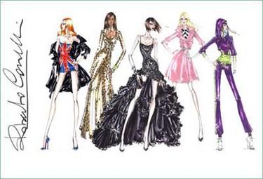 Roberto Cavalli diseña para las Spice Girls, segundo boceto