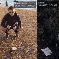 """Dos hombres han creado un """"sándwich de la Tierra"""". Una rebanada en España, otra en Nueva Zelanda"""