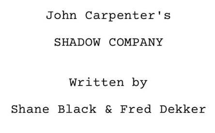 'John Carpenter's Shadow Company', la película que nunca se rodó pero has visto