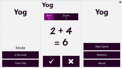 Yog, un sencillo juego matemático para Windows Phone 8.1
