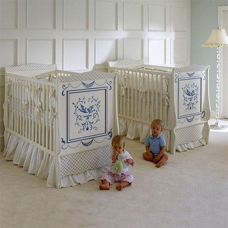 Cuna de dise o cl sico para beb s gemelos - Cuna de diseno ...