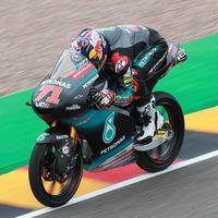 Ayumu Sasaki consigue su primera pole position en Moto3 y Arón Canet queda eliminado en la Q1