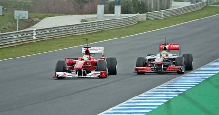 Massa Hamilton Jerez F1 2010