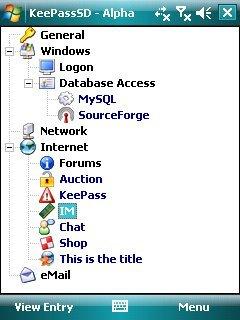 KeePass, gestor de claves en Windows Mobile