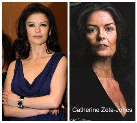 Katerine Zeta Jones de anciana