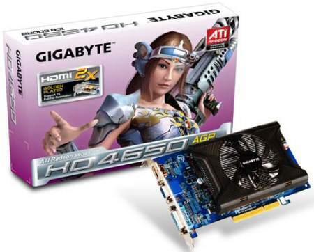 ATi 4650 AGP lanzada por Gigabyte